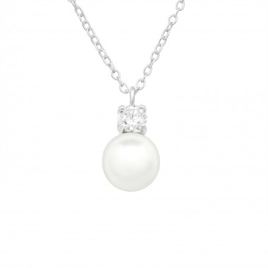 Round - 925 Sterling Silver Necklaces with Stones SD40445