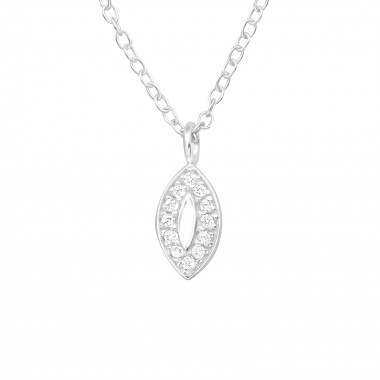 Marquise - 925 Sterling Silver Necklaces with Stones SD40463