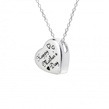 Heart - 925 Sterling Silver Silver Necklaces SD13131