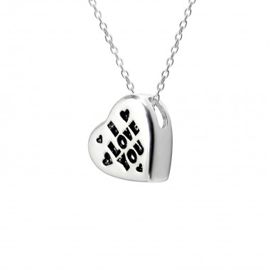Heart - 925 Sterling Silver Silver Necklaces SD13136