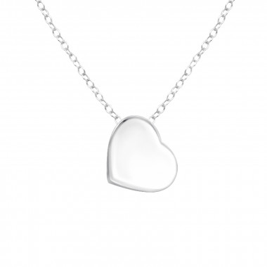 Heart - 925 Sterling Silver Silver Necklaces SD17046
