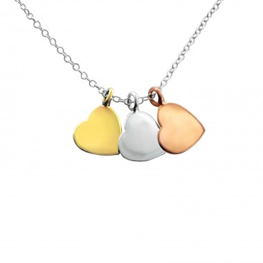 Hearts - 925 Sterling Silver Silver Necklaces SD17050