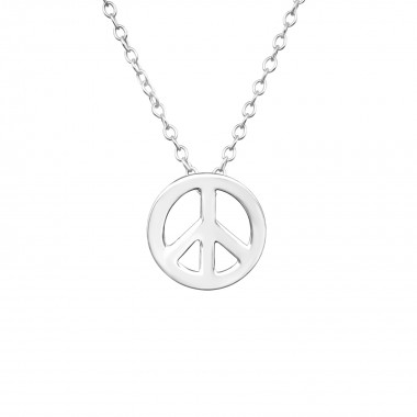 Peace - 925 Sterling Silver Silver Necklaces SD17068