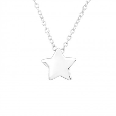 Star - 925 Sterling Silver Silver Necklaces SD17073