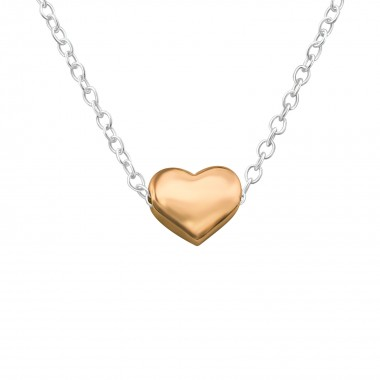 Heart - 925 Sterling Silver Silver Necklaces SD17454
