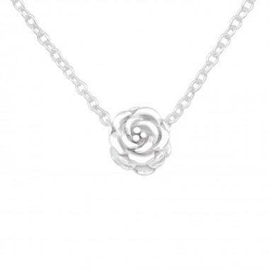 Rose - 925 Sterling Silver Silver Necklaces SD17455