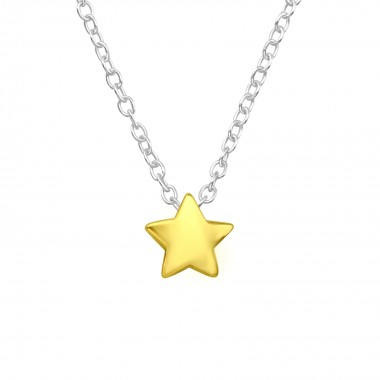 Star - 925 Sterling Silver Silver Necklaces SD17719