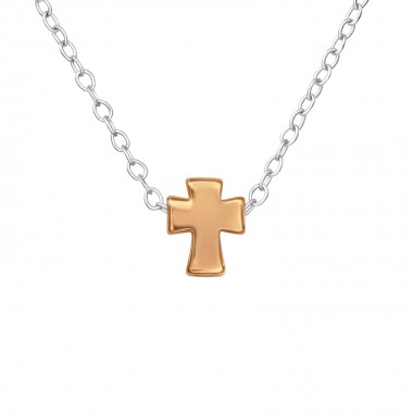 Cross - 925 Sterling Silver Silver Necklaces SD17728