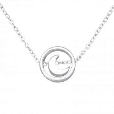 Moon - 925 Sterling Silver Silver Necklaces SD36352