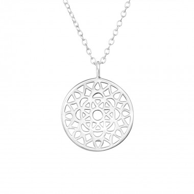 Mosaic - 925 Sterling Silver Silver Necklaces SD36360