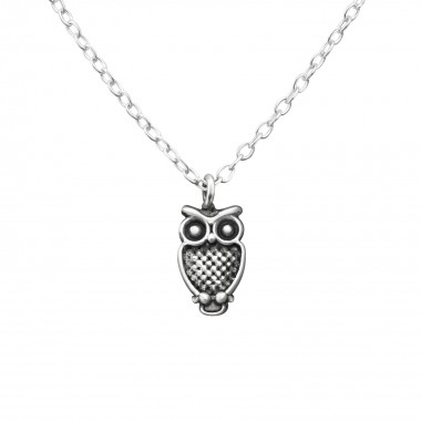 Owl - 925 Sterling Silver Silver Necklaces SD36367