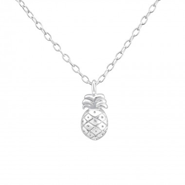 Pineapple - 925 Sterling Silver Silver Necklaces SD36502