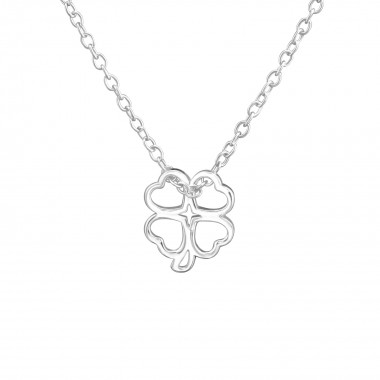 Lucky Clover - 925 Sterling Silver Silver Necklaces SD38466