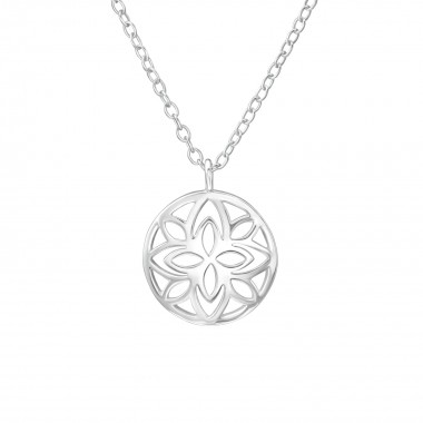 Patterned - 925 Sterling Silver Silver Necklaces SD38542