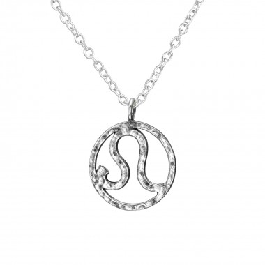 Leo Zodiac Sign - 925 Sterling Silver Silver Necklaces SD39227