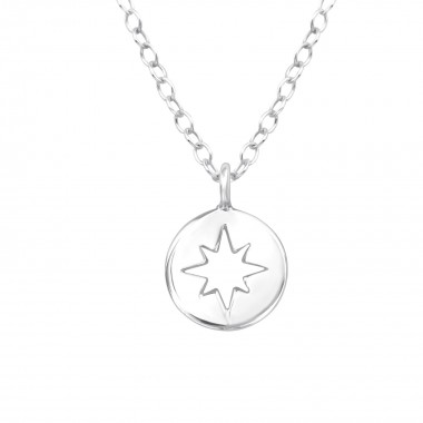 Star - 925 Sterling Silver Silver Necklaces SD39448