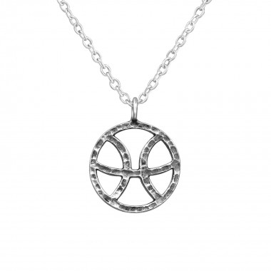 Pisces Zodiac Sign - 925 Sterling Silver Silver Necklaces SD39469