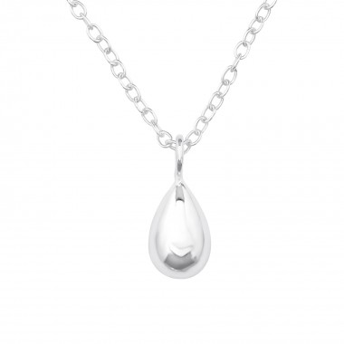 Pear - 925 Sterling Silver Silver Necklaces SD39713
