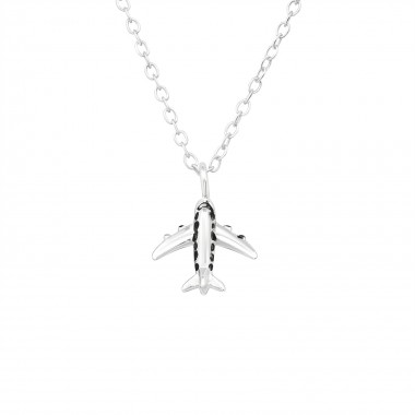 Aircraft - 925 Sterling Silver Silver Necklaces SD39885