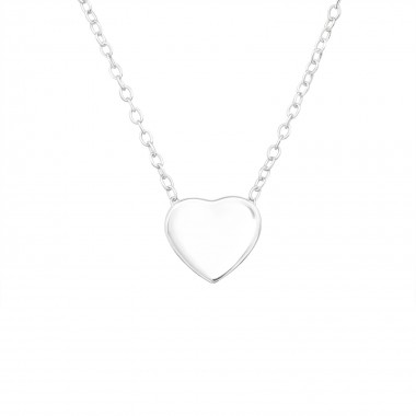 Heart - 925 Sterling Silver Silver Necklaces SD39889