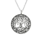 Tree Of Life - 925 Sterling Silver Silver Necklaces SD40037