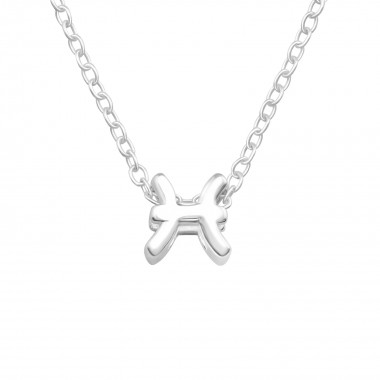 Pisces Zodiac Sign - 925 Sterling Silver Silver Necklaces SD40437