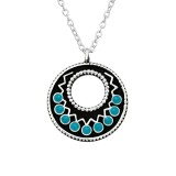 Ethnic - 925 Sterling Silver Silver Necklaces SD41043