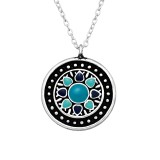 Ethnic - 925 Sterling Silver Silver Necklaces SD41046