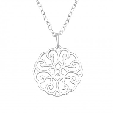 Antique - 925 Sterling Silver Silver Necklaces SD41094