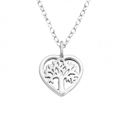 Tree Of Life - 925 Sterling Silver Silver Necklaces SD41571