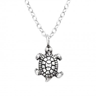 Turtle - 925 Sterling Silver Silver Necklaces SD41572