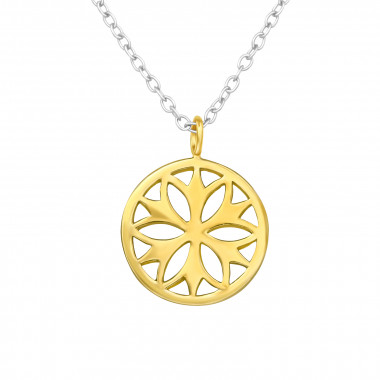 Flower - 925 Sterling Silver Silver Necklaces SD42612
