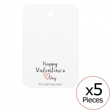 Happy Valentines Day Necklaces Cards - Paper Necklace & Stud Sets SD35836