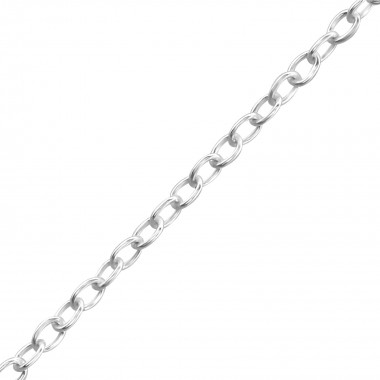 Silver Necklace 36cm Cable ...