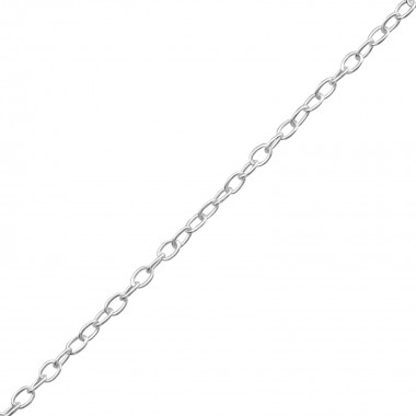 44cm Silver Cable Chain Wit...
