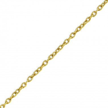 45cm Silver Cable Chain Wit...