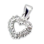 Heart - 925 Sterling Silver Pendants with CZ SD3125