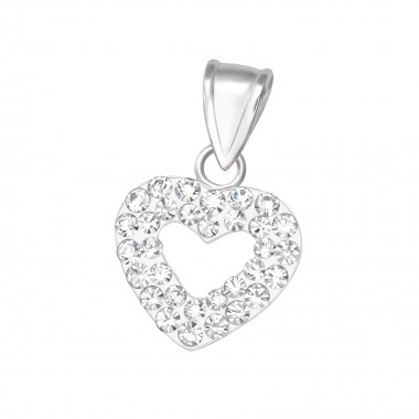 Heart - 925 Sterling Silver Pendants with CZ SD10479