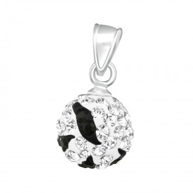 Ball - 925 Sterling Silver Pendants with CZ SD12306