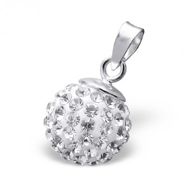 Ball - 925 Sterling Silver Pendants with CZ SD13235