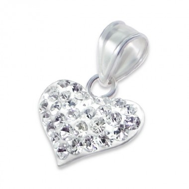 Heart - 925 Sterling Silver Pendants with CZ SD13337