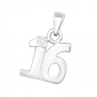 16 - 925 Sterling Silver Pendants with CZ SD3202