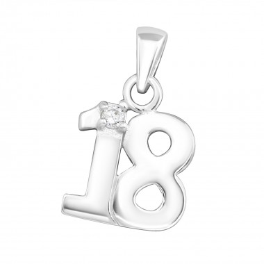 18 - 925 Sterling Silver Pendants with CZ SD3495