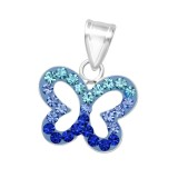 Butterfly - 925 Sterling Silver Pendants with CZ SD35212