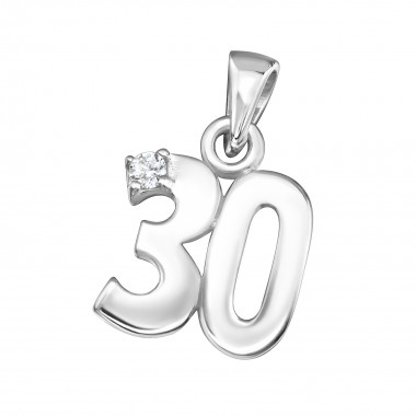 30 - 925 Sterling Silver Pendants with CZ SD3544