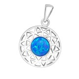 Round - 925 Sterling Silver Pendants with CZ SD36861