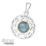 Round - 925 Sterling Silver Pendants with CZ SD36862