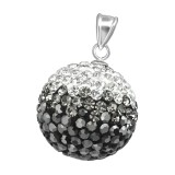 Crystal Ball - 925 Sterling Silver Pendants with CZ SD37369