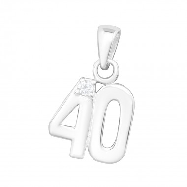40 - 925 Sterling Silver Pendants with CZ SD3746