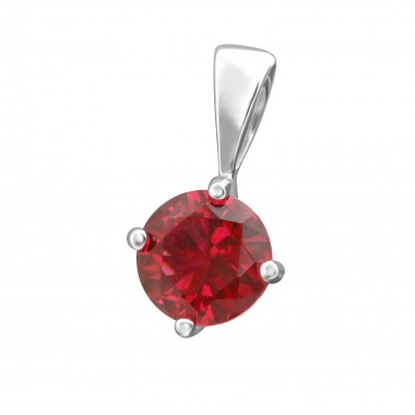Round 6mm - 925 Sterling Silver Pendants with CZ SD38452